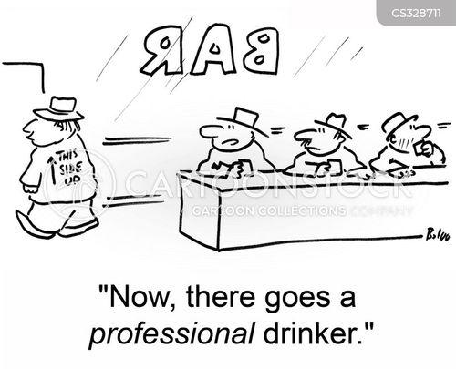 falling down drunk cartoon