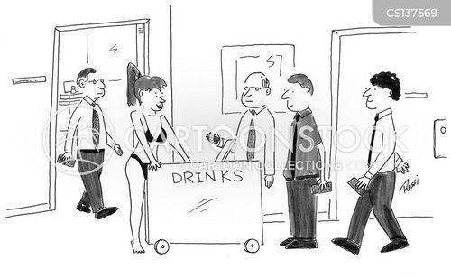 drinks vendors cartoon