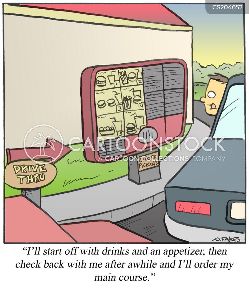 drive throughs cartoon