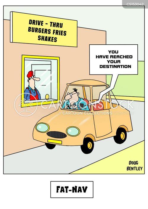 drive-thru cartoon