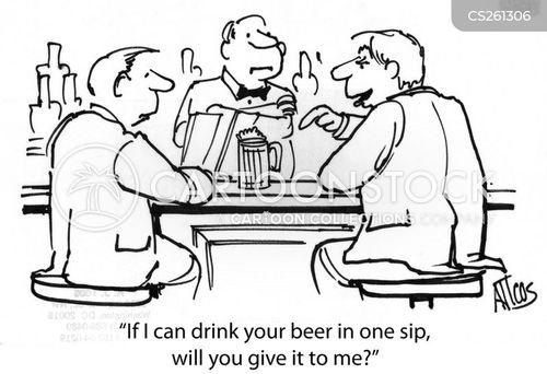 sipping cartoon