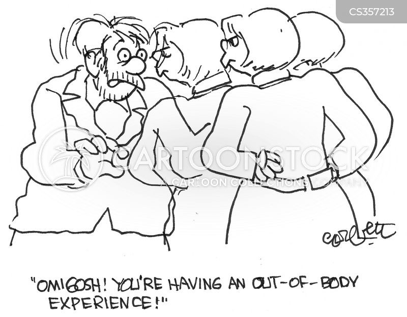 out of body experience cartoon