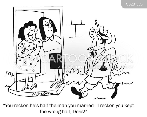 drunk husband cartoon