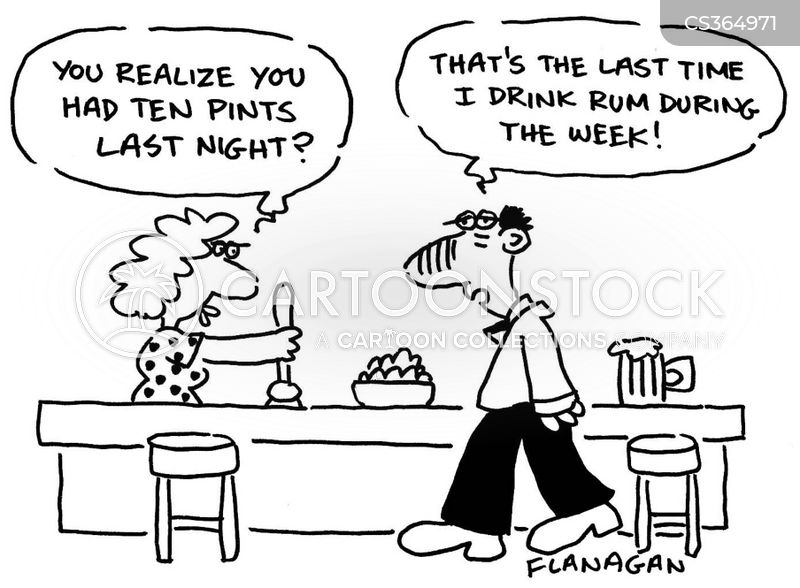 drinking in the week cartoon