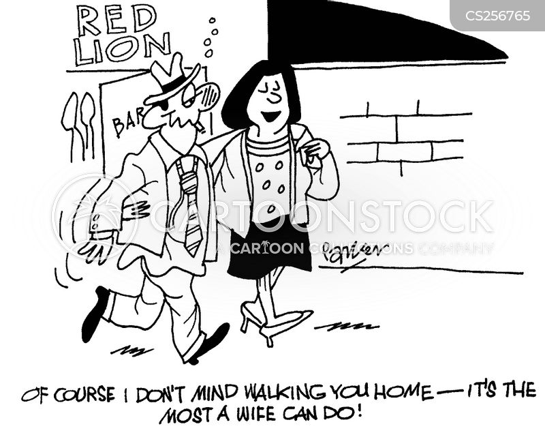 walk home cartoon