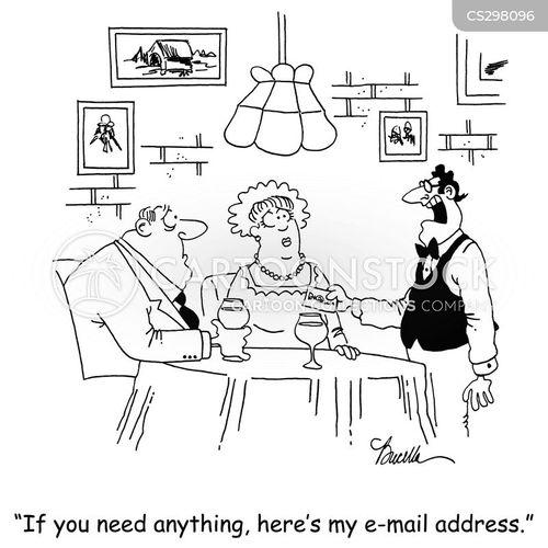 email address cartoon