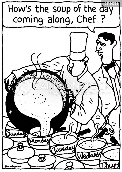 making soup cartoon
