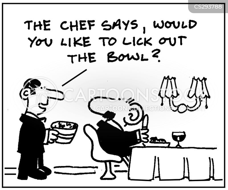 licking out the bowl cartoon