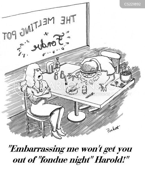 fondue cartoon