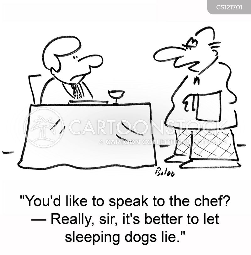 let sleeping dogs lie cartoon