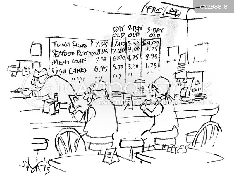 old food cartoon