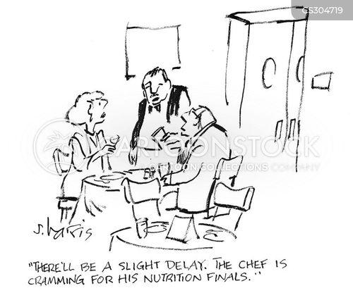 ordering foods cartoon