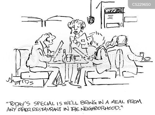 dinner lady cartoon
