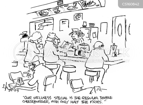 fried foods cartoon
