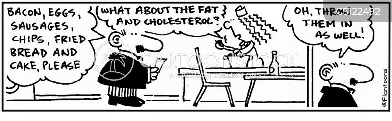 high cholesterol diet cartoon