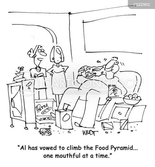 food distribution cartoon