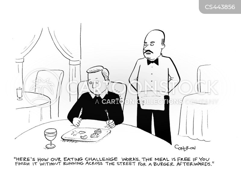 food challenges cartoon