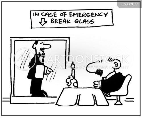 break the glass cartoon