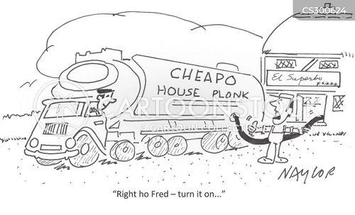 house wine cartoon