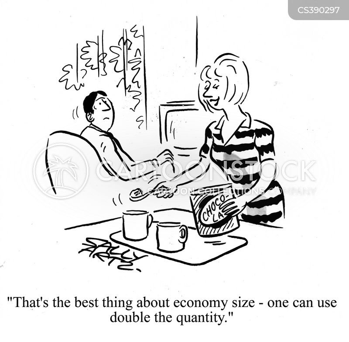 economy size cartoon