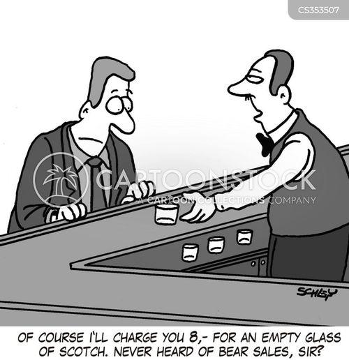 bear sales cartoon