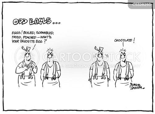 poached egg cartoon