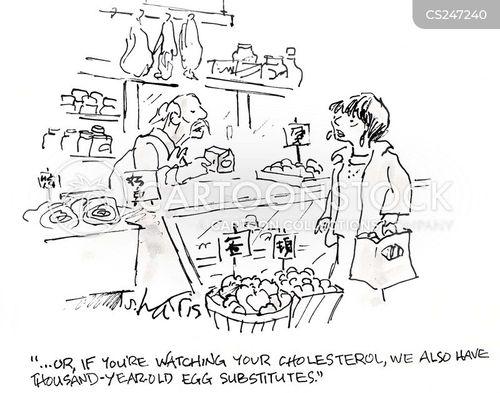 cholesterols cartoon