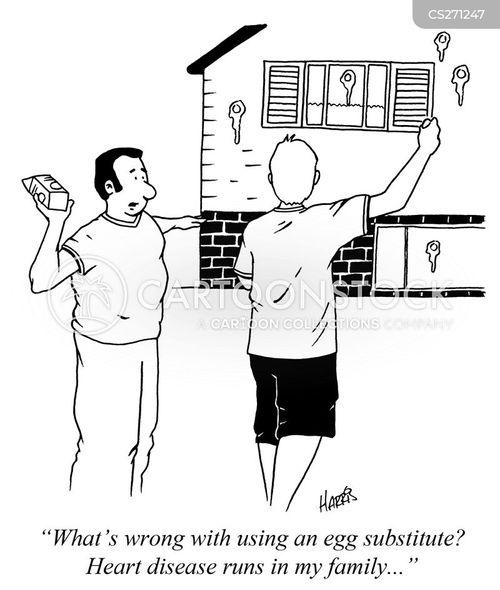 food substitutes cartoon