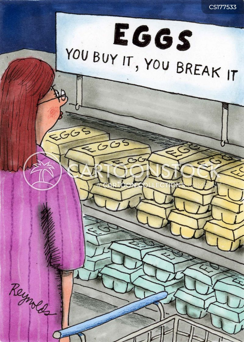 breaking eggs cartoon