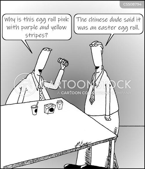 egg roll cartoon