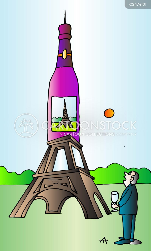 french wines cartoon