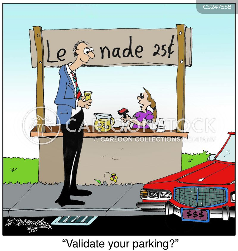 selling lemonade cartoon