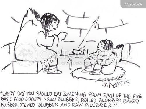 basic food groups cartoon