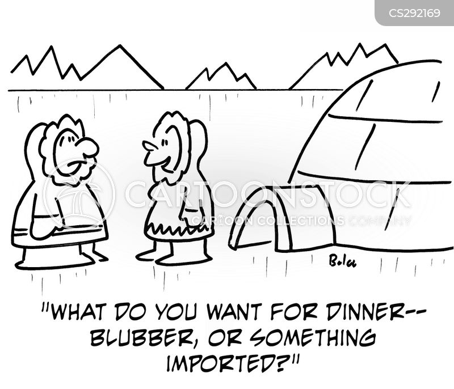 imported food cartoon
