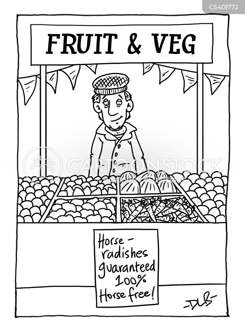 vegetable stalls cartoon