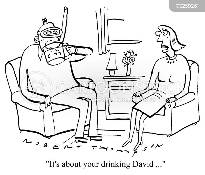 excessive drinking cartoon