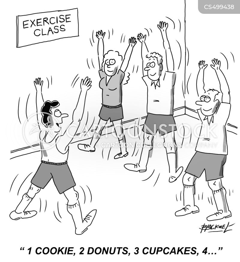 exercise instructor cartoon