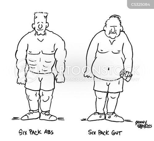 weight lifters cartoon