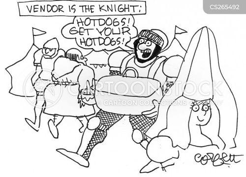 hotdog vendor cartoon