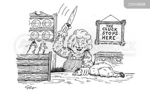 clucking cartoon
