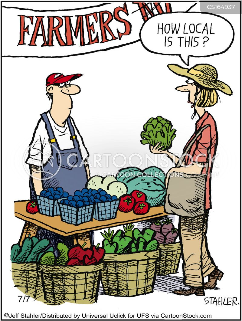 local food cartoon