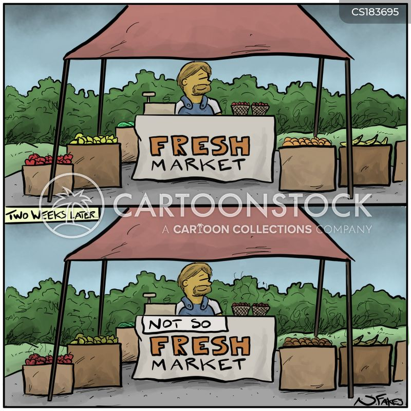 fresh fruits cartoon