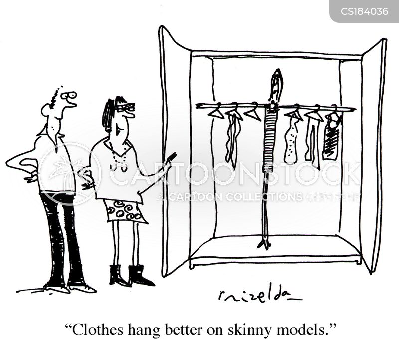 skinny women cartoon