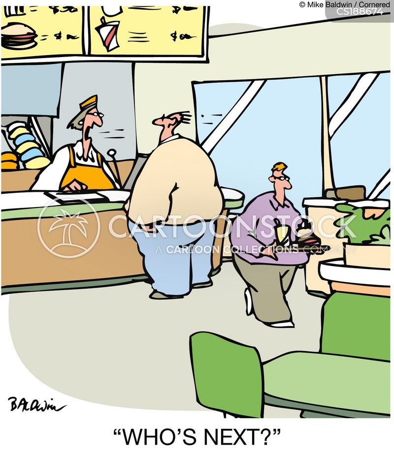 fast food restaurants cartoon