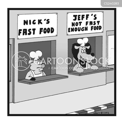 fast food stand cartoon