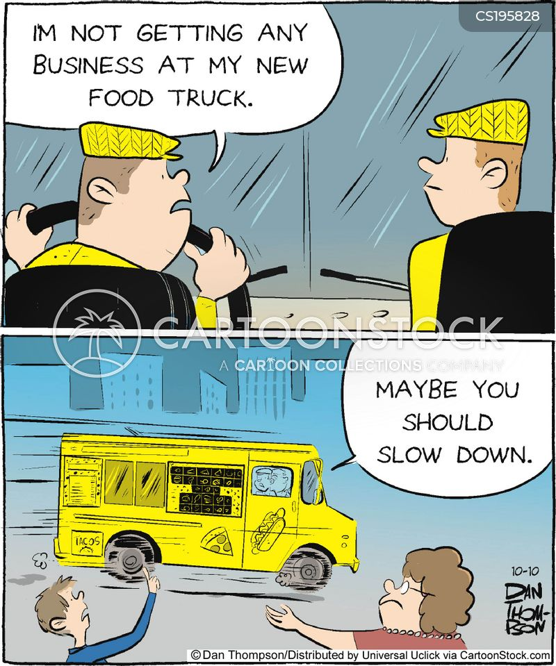 Fast Food Truck Cartoon 1 Of