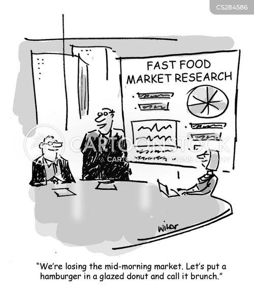 chain restaurants cartoon