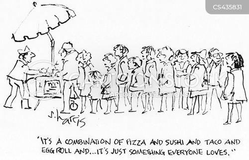 food vendors cartoon