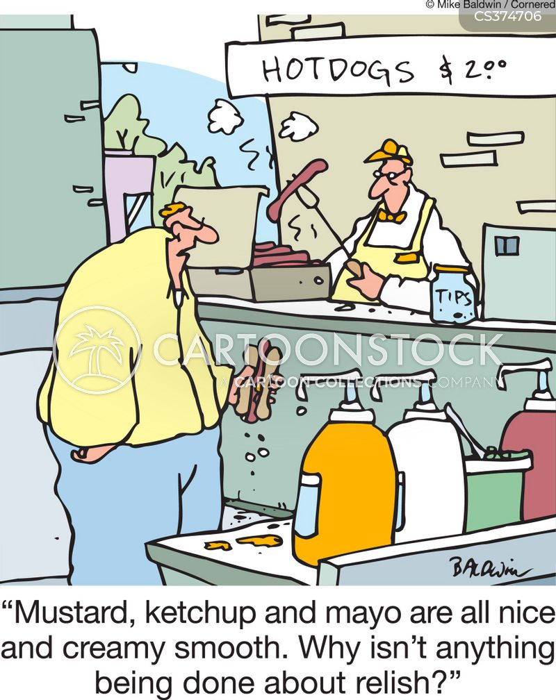 mustard cartoon