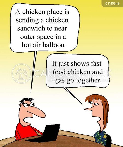 fried chicken cartoon